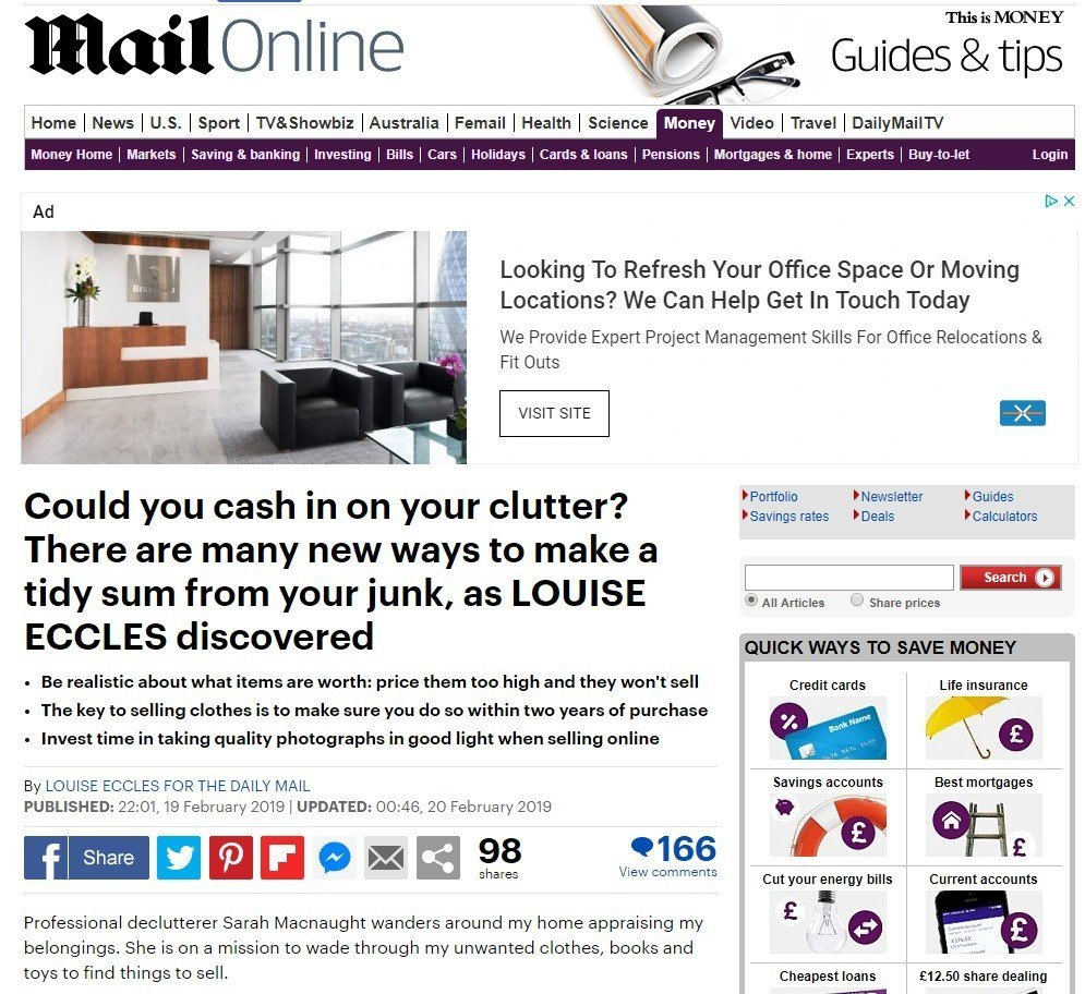 Daily Mail article featuring Right-Size